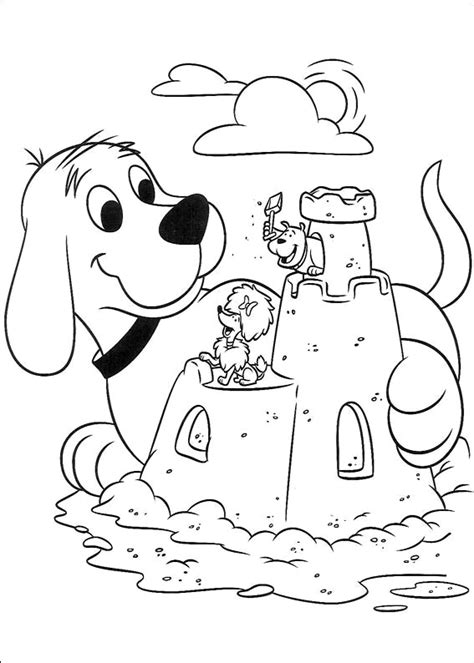 coloring page of a big dog free coloring pages of box with dogs inside clifford the