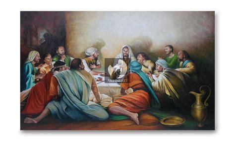 Lukisan Rohani 1 Jual Lukisan Rohani Perjamuan Kudus Ari Lestawan