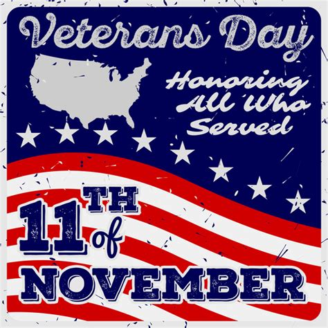 Veteran S Day Card Template by Veterans Day Grunge Template Vector 05 Vector Other Free