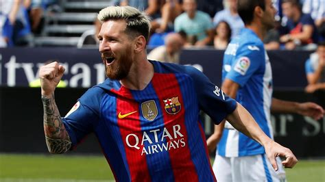 scores haircuts hours lionel messi scores twice as barcelona crush leganes