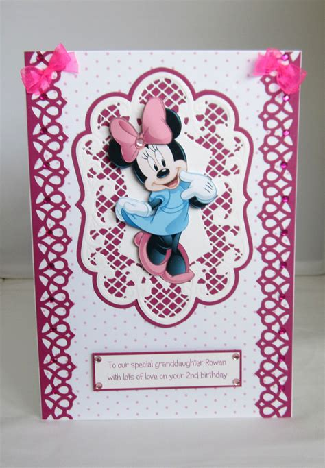 Handmade Minnie Mouse Birthday Cards - minnie mouse birthday card