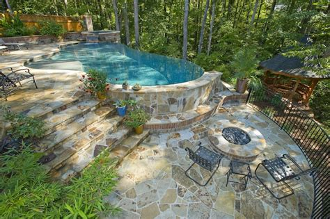 Steep Hill Backyard Ideas Stunning Swimming Pool Designs For Steep Sloped Yards