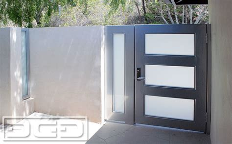 Ideas For Bathrooms Remodelling modern steel amp glass entry gates with white laminate glass