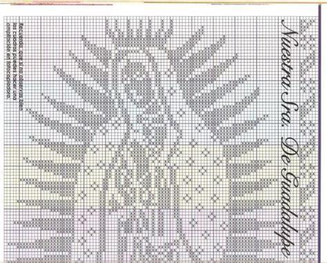 imagenes de virgen de guadalupe en punto cruz esquema de la virgen de guadalupe en punto de cruz