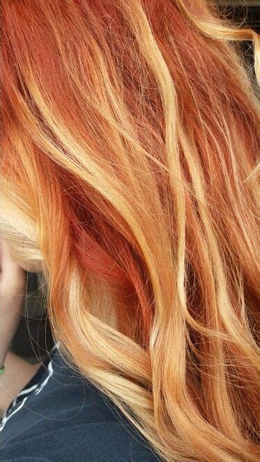 red heads with partial blonde highlights red hair with blonde highlights hair color pinterest