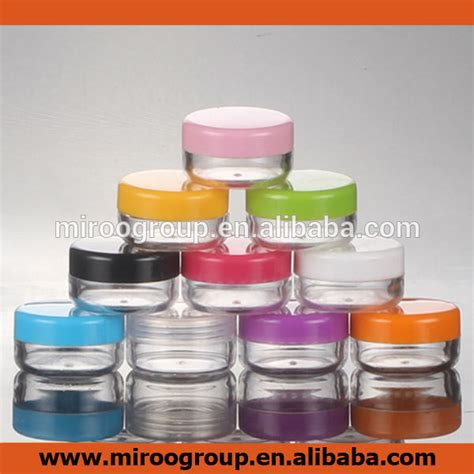 Acrylic Tangerang 30 gram all clear empty plastic cosmetic jar craft pot container sle jar with lid for