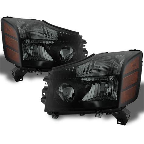 nissan titan replacement headlights black smoked