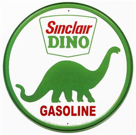 sinclair dino gasoline  tin metal signs vintage style