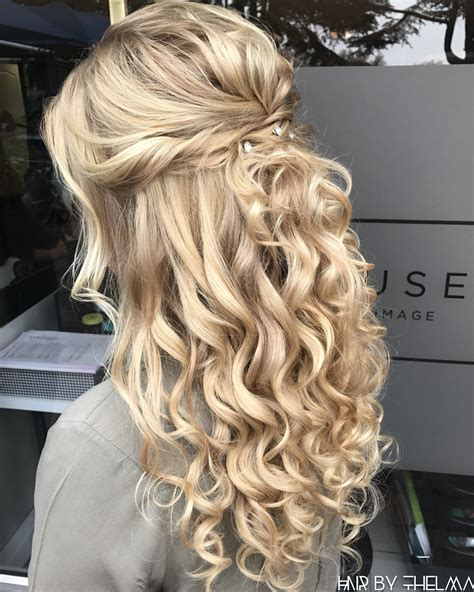 blonde hairstyles for prom half up half down prom hairstyles matric dance diamant 233