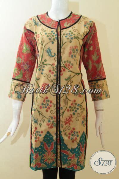 Batik 203 Dress Gaun Seragam Melati Katun dress batik motif bunga warna desain baru yang lebih mewah dan trendy pas buat seragam