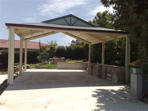 Roof For Carport by Carport Freestanding Gable Roof 8m X 6m