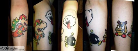 the game tattoos tattoo collections tina s geeky collection geeky tattoos
