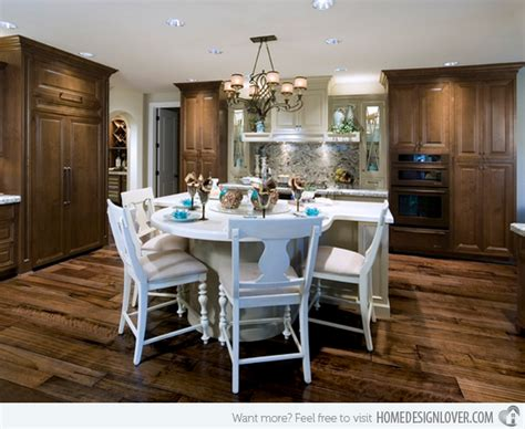 Pine Kitchen Islands 15 beautiful kitchen island with table attached