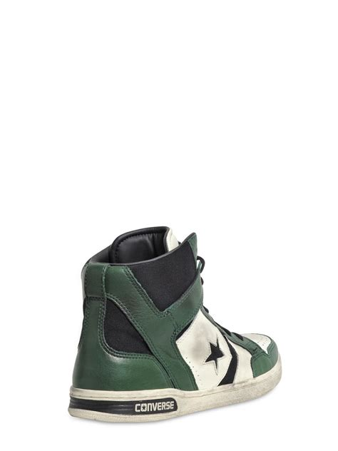 white high top sneakers for converse weapon leather high top sneakers in green for