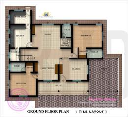 Plan Floor Floor Plan And Elevation Of 2350 Square Feet House