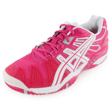 asics s gel resolution 5 tennis shoes fuchsia and
