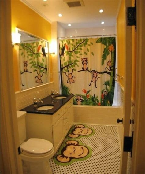 kids bathroom with monkey decor dream home pinterest