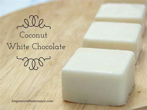 white chocolate paleo coconut white chocolate fudge