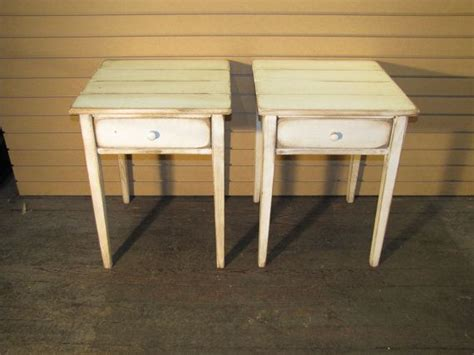 cottage style end tables two distressed shaker end tables rustic cottage style