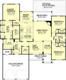 House Plans Two Master Suites One Story by Craftsman Style House Plan 3 Beds 2 Baths 2136 Sq Ft