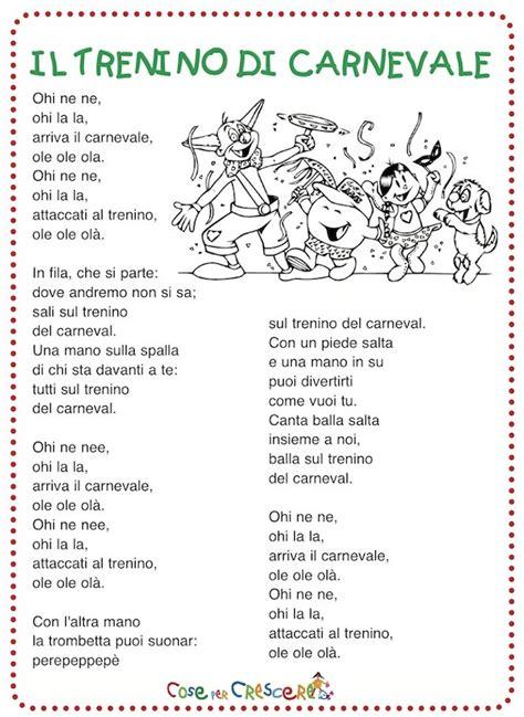 il disegno testo il trenino di carnevale canzone per bambini