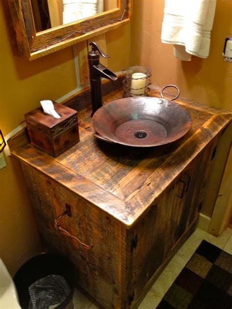 Rustic Bathroom Sink by 1000 Images About Bathroom On Rustic Bathroom Designs Rustic Bathrooms And Rustic