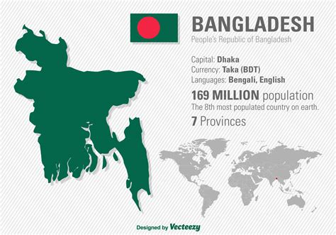 where is dhaka on the world map vector illustration of bangladesh s location and world map