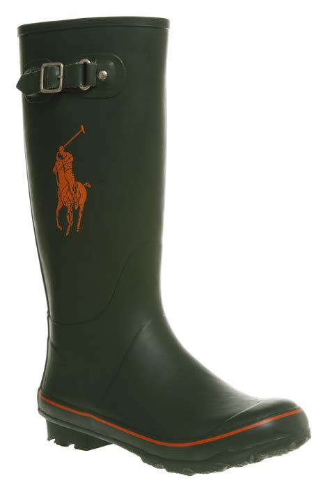 mens rubber boots mens ralph matteo green rubber wellington boots ebay