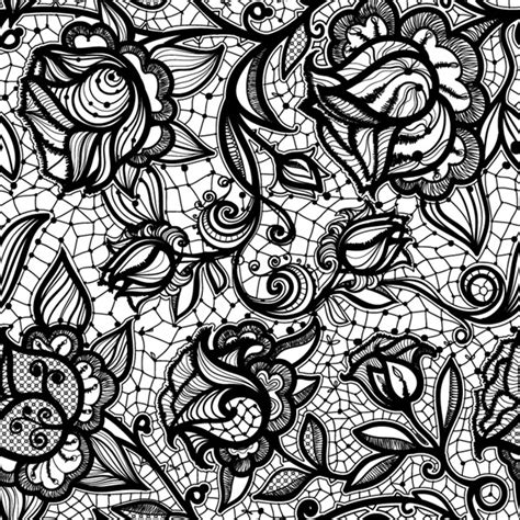 lace pattern ai free black lace pattern background vector graphics my free