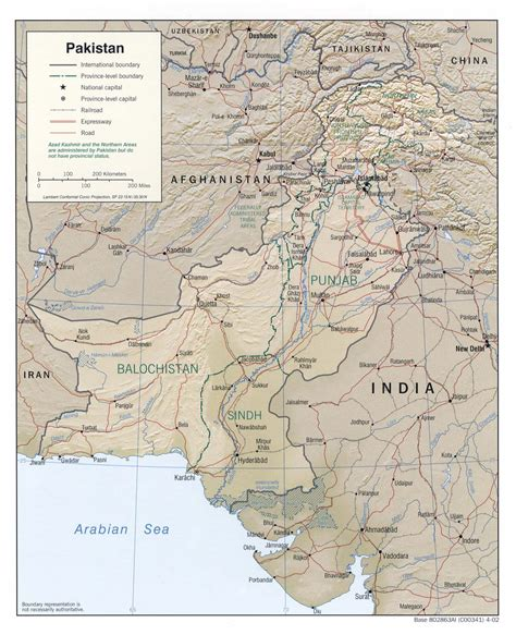 map of pakistan nationmaster maps of pakistan 22 in total