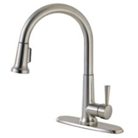 peerless 174 pull kitchen faucet brushed nickel canadian tire