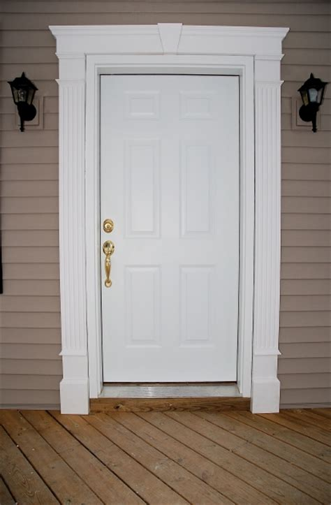 Exterior Door Trim Molding Front Doors Creative Ideas Door Entrance