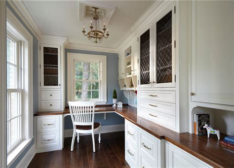home office design with kitchen cabinets traditional home with classic white kitchen home bunch