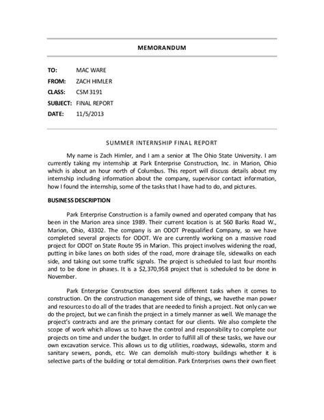 Internship Experience Report Essays by Internship Experience Report