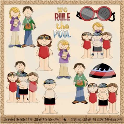 doodlebug resale shop swim team clip exclusive by clipart 4 resale whimsy