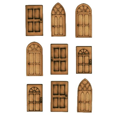 Mini Sheet mini doors mdf wood shapes for altered and craft projects