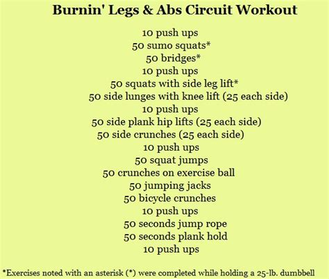 workout for abs and legs beginners workout routine