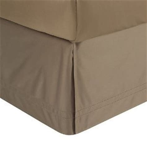taupe bed skirt amazon com 450tc solid taupe queen pleated tailored bed