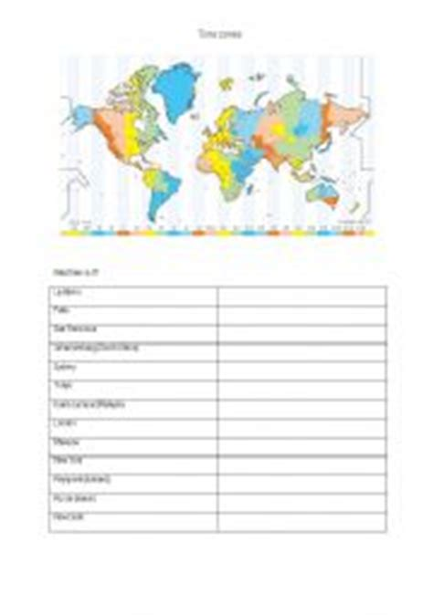 Time Zone Worksheet by Time Worksheet New 574 World Time Zones Worksheet