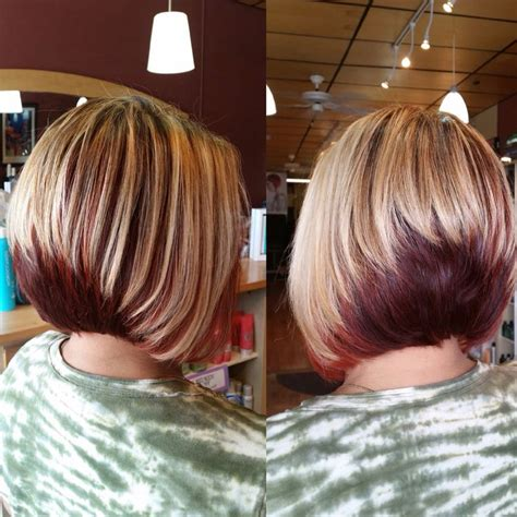reverse bob with two tone color 902 best images about short inverted bobs on pinterest