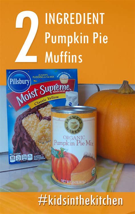 pumpkin recipes for two ingredient pumpkin pie muffin recipe