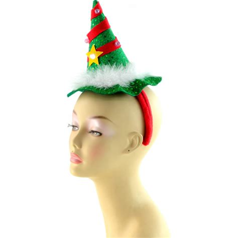 light up christmas tree headband 25292grnm craftoutlet com