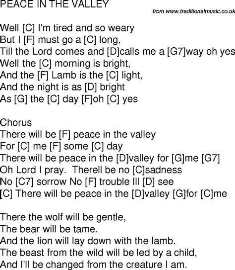 song of velly time song lyrics with guitar chords for peace in the