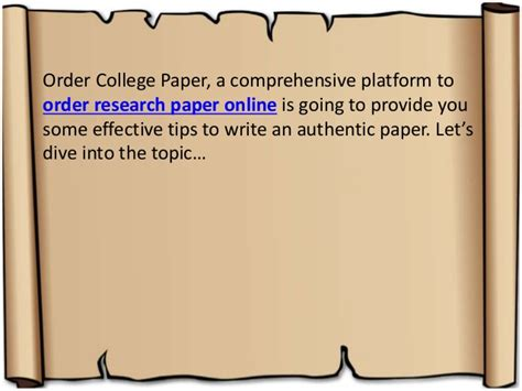 tips to writing a research paper tips to write a research paper