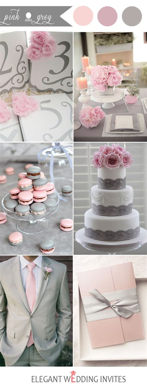 wedding color idea pink and grey white silver oooo now 48 perfect pink wedding color combination ideas