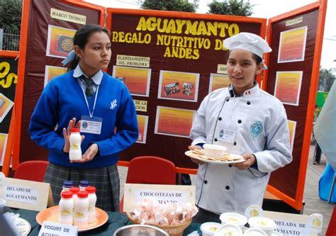 imagenes feria escolar productos elaborados con granos andinos se exponen en