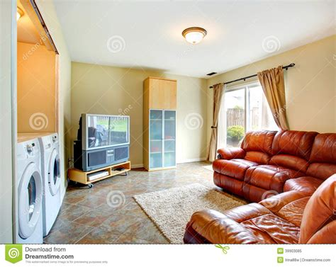 Rich Living Room by Living Room With Rich Leather Stock Photo Image