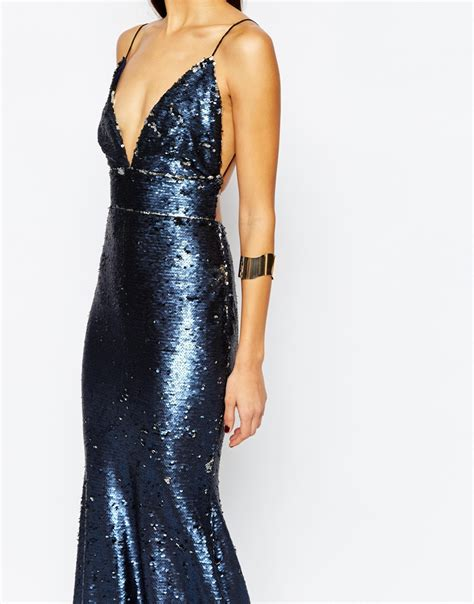 Maxi Astrid Tosca club l showstopper open back sequin maxi dress with