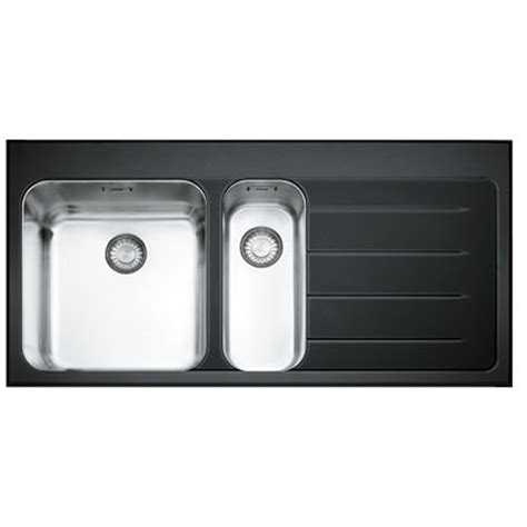 black stainless steel kitchen sink franke epos 1 5 black glass stainless steel kitchen sink