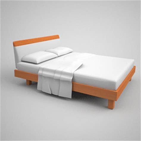 simmons matratzen einfache 3d modell des simmons matratzen holzbett 3d model
